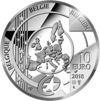 Бельгия монета 10 евро Барокко и рококо, аверс