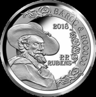 Бельгия монета 10 евро Барокко и рококо, реверс