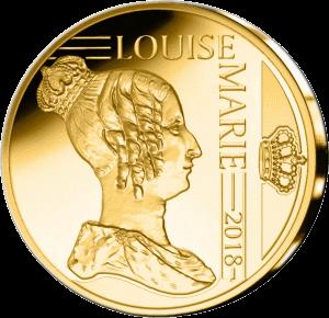 Бельгия монета 12,5 евро Луиза Орлеанская, аверс