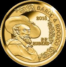 Бельгия монета 50 евро Барокко и рококо, реверс