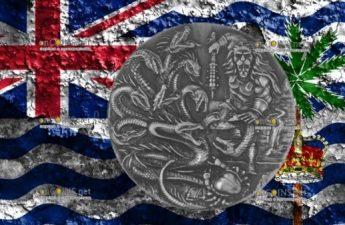 Британская территория в Индийском океане монета 4 фунта Лернейская гидра