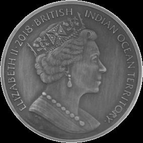 Британская территория в Индийском океане монета 4 фунта Лернейская гидра, аверс