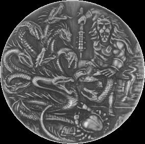 Британская территория в Индийском океане монета 4 фунта Лернейская гидра, реверс