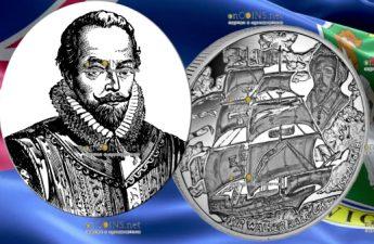 Британские Виргинские острова монета 1 доллар Уолтер Рейли