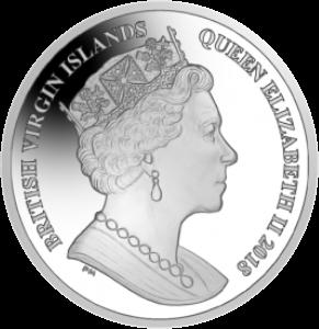 Британские Виргинские острова монета 10 долларов Уолтер Рейли, аверс