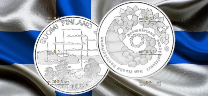 Финляндия монета 10 евро Культура финской сауны