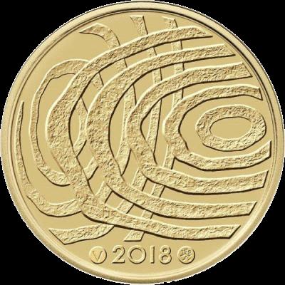 Финляндия монета 100 евро 100-летие Финляндии Голубая биоэкономика, реверс