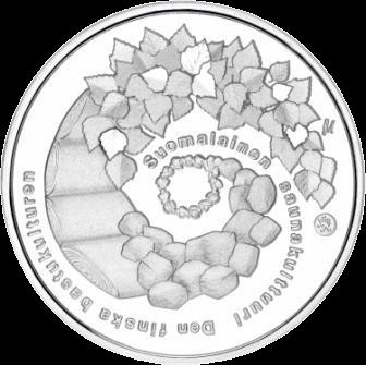 Финляндия монета 20 евро Культура финской сауны, аверс