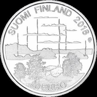 Финляндия монета 20 евро Культура финской сауны, реверс