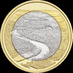Финляндия монета 5 евро Оуланкайока, реверс