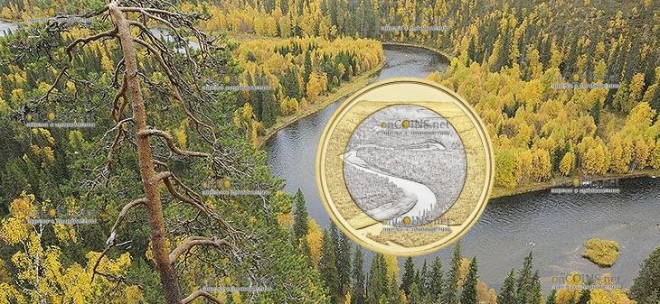 Финляндия монета 5 евро Оуланкайока