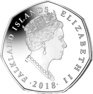 Фолклендские острова монета 50 пенсов 2018 год, аверс
