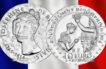 Франция монет 10 евро Жозефина де Багарне