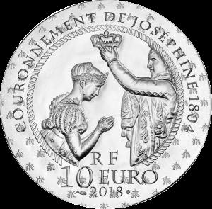 Франция монет 10 евро Жозефина де Багарне, реверс