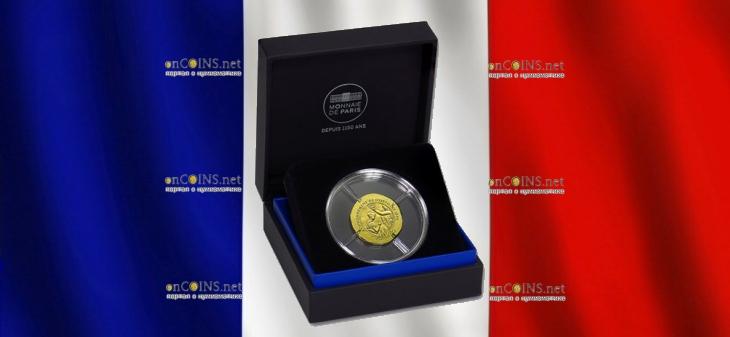 Франция монет 50 евро Жозефина де Багарне, подарочная упаковка