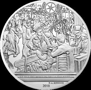 Франция монета 10 евро Бал в Мулен де ла Галетт, реверс