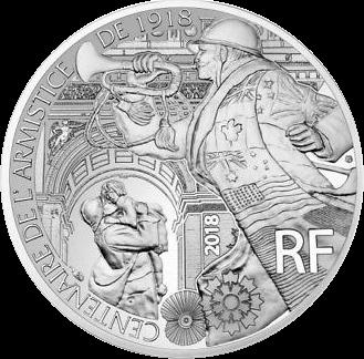 Франция монета 10 евро Годы перемирия, реверс