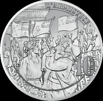 Франция монета 10 евро Ликование, аверс