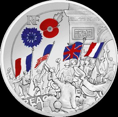 Франция монета 10 евро Ликование, реверс