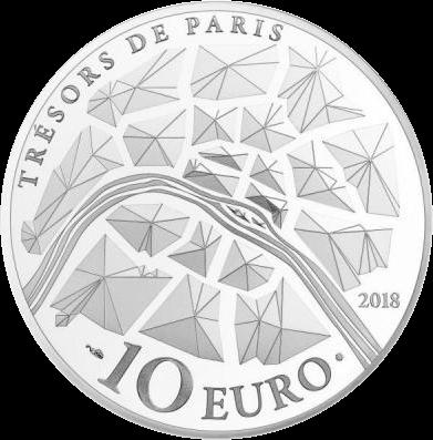Франция монета 10 евро Золотые ворота Версальского дворца, реверс