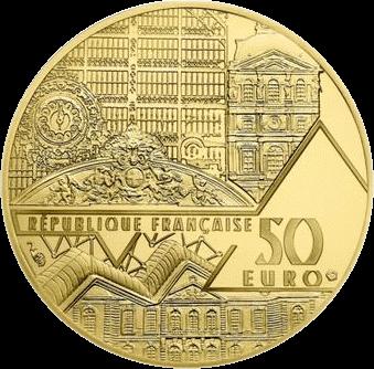 Франция монета 50 евро Бал в Мулен де ла Галетт, аверс