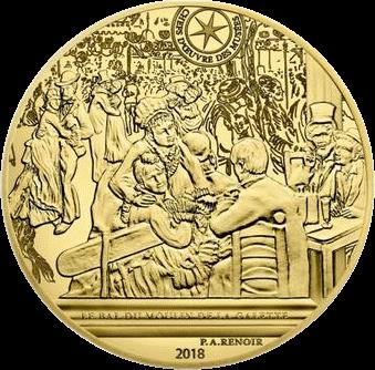 Франция монета 50 евро Бал в Мулен де ла Галетт, реверс