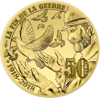 Франция монета 50 евро Договор о перемирии, аверс
