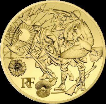 Франция монета 50 евро Договор о перемирии, реверс