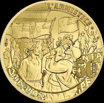 Франция монета 50 евро Ликование, аверс