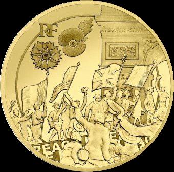 Франция монета 50 евро Ликование, реверс