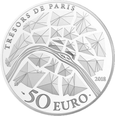 Франция монета 50 евро Золотые ворота Версальского дворца, реверс