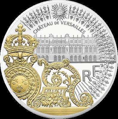Франция монета Золотые ворота Версальского дворца, аверс