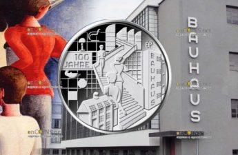 Германия монета 20 евро 100-летие Баухауз