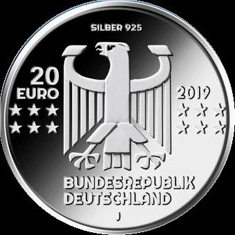 Германия монета 20 евро 100-летие Баухауз, аверс