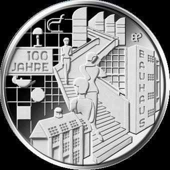 Германия монета 20 евро 100-летие Баухауз, реверс