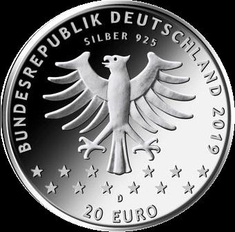 Германия монета 20 евро 100-летие женского избирательного права, аверс