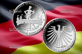 Германия монета 20 евро Храбрый портняжка