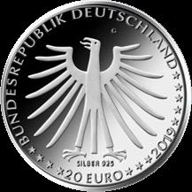 Германия монета 20 евро Храбрый портняжка, аверс