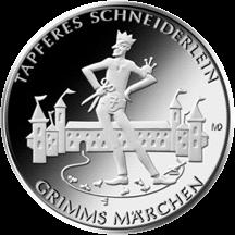 Германия монета 20 евро Храбрый портняжка, реверс