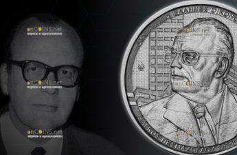 Греция монета 6 евро Ягос Песмазоглу