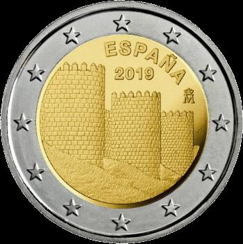 Испания монета 2 евро Муралла-де-Авила, реверс