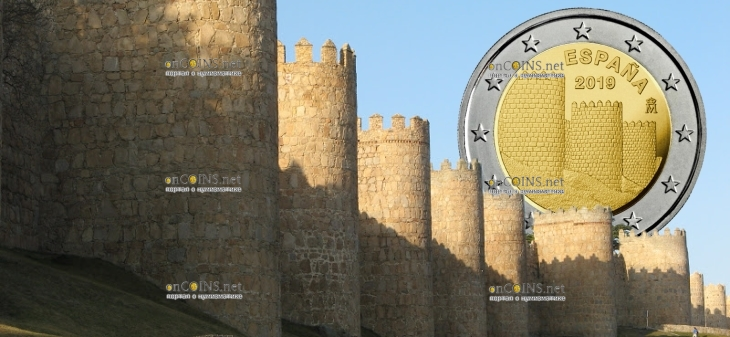 Испания монета 2 евро Муралла-де-Авила