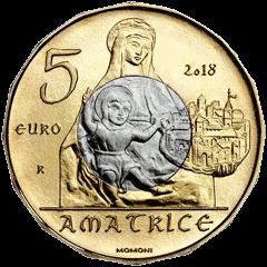 Италия монета 5 евро Аматриче, аверс
