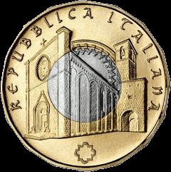 Италия монета 5 евро Аматриче, реверс
