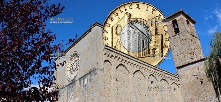 Италия монета 5 евро Аматриче