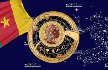 Камерун монета 500 франков КФА Дева Знаки Зодиака 2018
