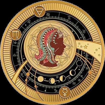 Камерун монета 500 франков КФА Дева Знаки Зодиака 2018 реверс