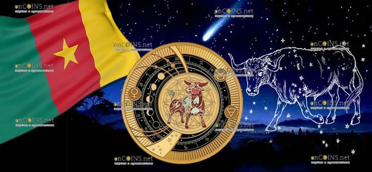 Камерун монета 500 франков КФА Телец Знаки Зодиака 2018