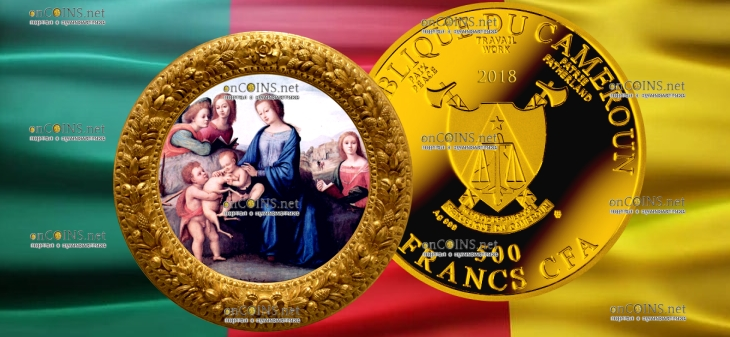Камерун монета 500 франков КФА творчество Пьеро ди Козимо