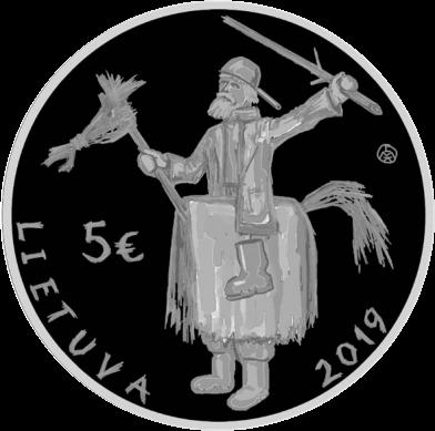 Литва монета 5 евро Ужгавенес, аверс